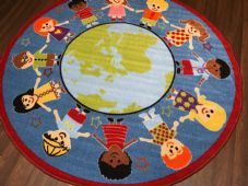 133CMX133CM WORLD CIRCLE RUGS/MATS HOME/SCHOOL EDUCATIONAL NON SLIP BEST SELLERS